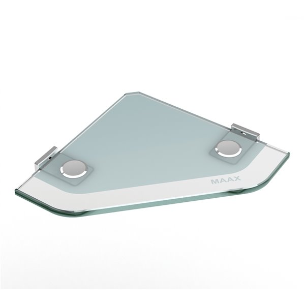 MAAX Utile Alcove Shower - Right Drain - 60-in x 32-in x 84-in - Origin Arctik - Chrome
