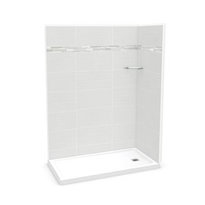 MAAX Utile Corner Shower Kit - Right Drain - 60-in x 32-in x 84-in - Origin Arctik