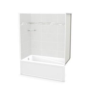 MAAX Utile Tub Shower Kit - Left Drain - 60-in x 30-in x 81-in - Origin Arctik