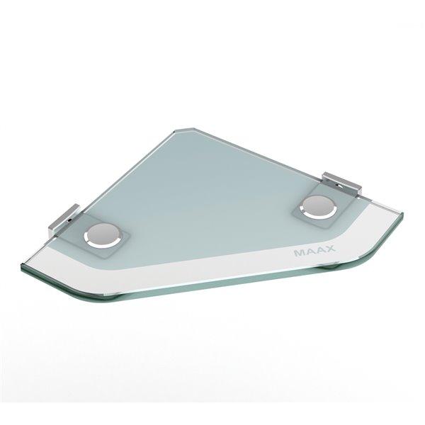 MAAX Utile Alcove Shower - Right Drain - 60-in x 32-in x 84-in - Origin Arctik - Brushed nickel