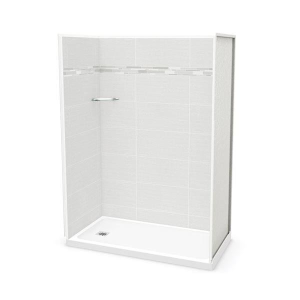 MAAX Utile Alcove Shower - Left Drain - 60-in x 32-in x 84-in - Origin Arctik