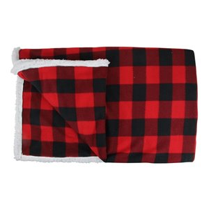 Northlight 52-in x 60-in Black and Red Bufalo Plaid Christmas Throw Cover