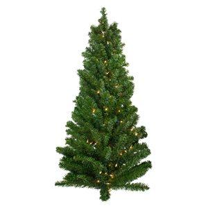 Northlight Pre-Lit Canadian Pine Artificial Christmas Teardrop Door Swag - 42-in - Green