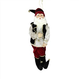 Northlight Black and Red 22-in Poseable Whimsical Elf Christmas Figurine