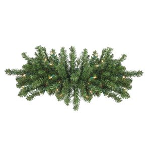 Northlight Pre-Lit Canadian Pine Artificial Christmas Swag - 32-in - Clear Lights - Green
