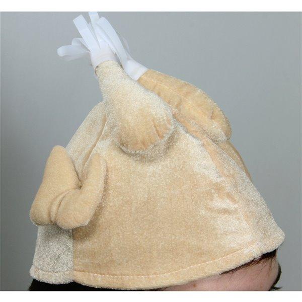 Northlight Thanksgiving Turkey Plush Adult Costume Hat - 11-in - Beige