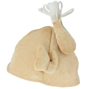 Northlight Thanksgiving Turkey Plush Adult Costume Hat - 11-in - Beige