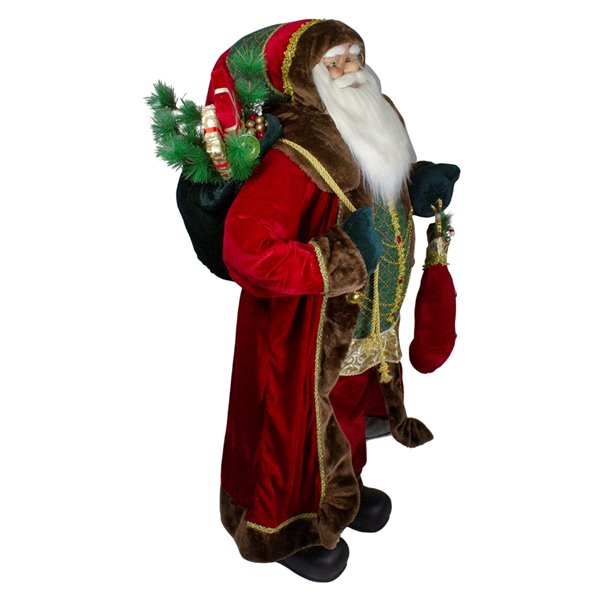 Northlight Red 48-in Santa Standing with Presents Christmas Tabletop Decoration