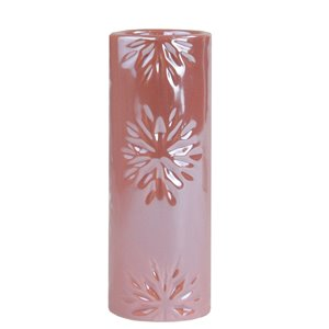 Northlight Snowflake Christmas Candle Holder - 6.5-in - Pearly Pink