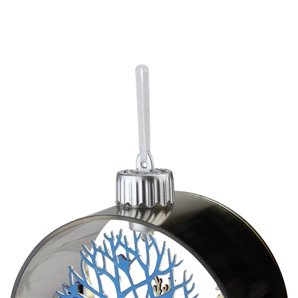 Northlight Woodland Animals Prelit Christmas Ornament - 5-in - Silver