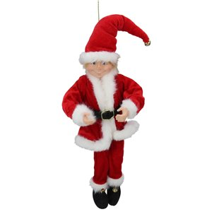 Northlight 15-in Red and White Bendable Christmas Elf in a Santa Suit