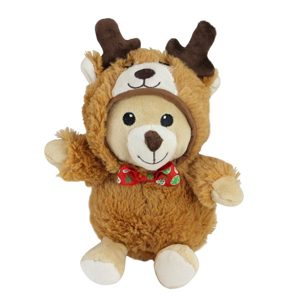 Northlight Set of 3 Brown and Black 8-in Teddy Bear Stuffed Animal Christmas Tabletop Decoration