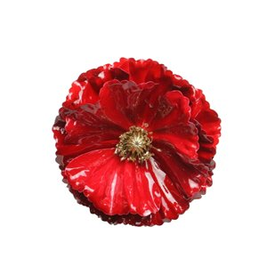Northlight Red and Gold 4.5-in Contemporary Poppy Christmas Clip