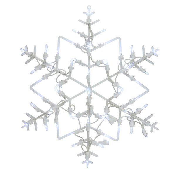 Northlight 18-in White LED Lighted Snowflake Christmas Window Silhouette Decoration