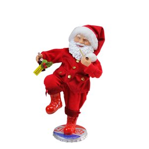 Northlight Red 12-in Santa Claus Standing on Pepsi-Cola Bottle Cap Christmas Figurine