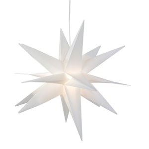 Northlight 22-in White LED Lighted Foldable Moravian Star Handing Christmas Decoration