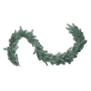 Northlight Pine Artificial Christmas Garland - Unlit - 76-in x 7-in - Frosted and Dusted Green