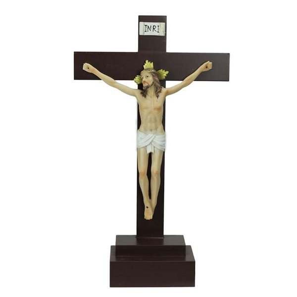 Northlight Brown 14.5-in Jesus on a Crucifix Christmas Figurine
