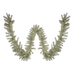 Northlight Artificial Christmas Tinsel Garland - Unlit - 9-ft x 12-in - Metallic Champage Gold