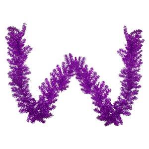 Northlight Metallic Tinsel Artificial Christmas Garland - Unlit - 9-ft x 12-in - Purple