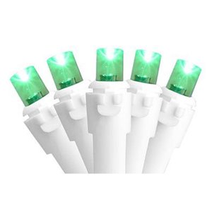 Northlight 50-Count Constant Green LED Electrical-Outlet Indoor/Outdoor 16.25-ft Christmas String Lights