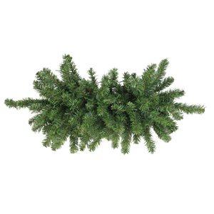 Northlight Canadian Pine Artificial Christmas Door Swag - Unlit - 32-in