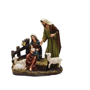 Northlight Brown 13-in Mary, Joseph and Baby Jesus Nativity Tabletop Decoration