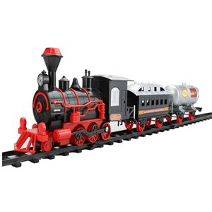 Northlight 13-Piece Black Battery Operated Lighted Animatronic Christmas Express Train Set