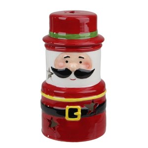 Northlight Ceramic Santa Gnome Christmas Tealight Candle Holder - 5.5-in - Red