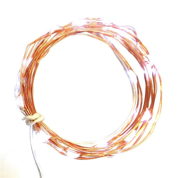 Northlight 30-Count Constant Orange LED Battery-Operated Indoor/Outdoor 9.6-ft Christmas String Lights