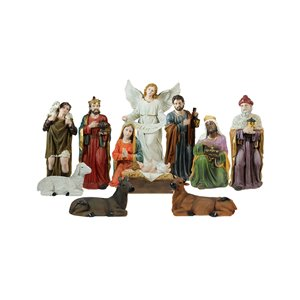 Northlight 11-Piece Multicoloured 39-in Christmas Nativity Figurine Set