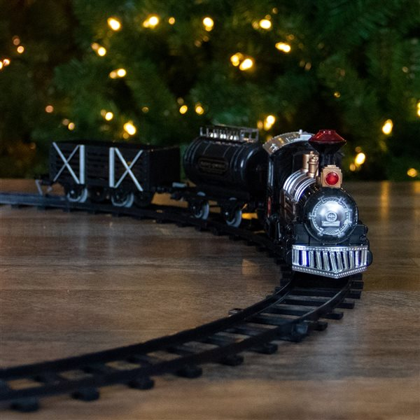 Northlight 9-Piece Battery-Operated Lighted Animated Classic Christmas Train Set