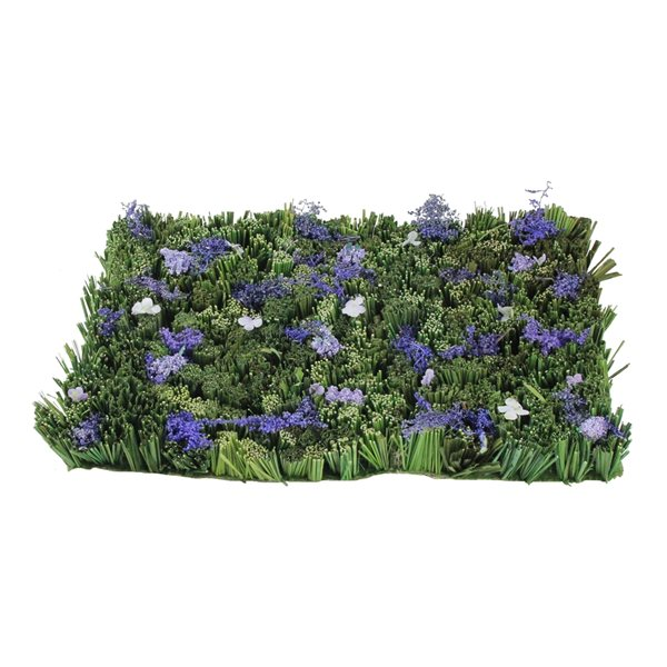 Northlight 12.5-in Green and Purple Lavender-Inspired Foliage Floor Mat