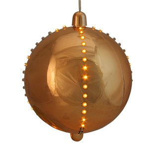 Northlight LED Lighted Cascading Sphere Christmas Ball Ornament - 7.5-in - Copper Gold