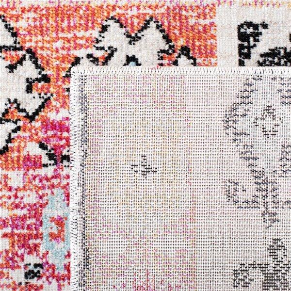 Tapis décoratif rectangulaire Montage de Safavieh, fait à la machine, 9 pi x 6 pi, aqua et fuchsia