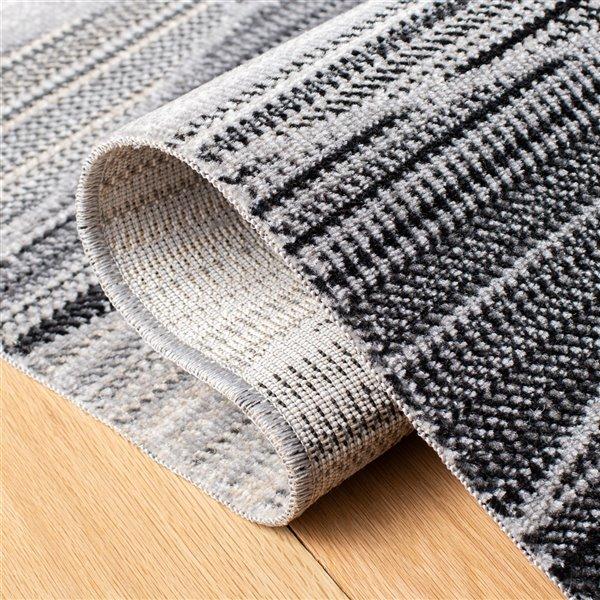 Tapis décoratif rectangulaire Montage de Safavieh, fait à la machine, 9 pi x 6 pi, gris pâle et gris foncé