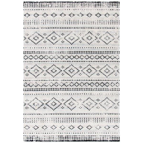 Tapis décoratif rectangulaire Montage de Safavieh, fait à la machine, 10 pi x 8 pi, gris et ivoire