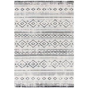 Tapis décoratif rectangulaire Montage de Safavieh, fait à la machine, 9 pi x 6 pi, gris et ivoire