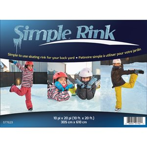 SimpleRink Skating Rink - 10-ft x 20-ft - Clear PVC