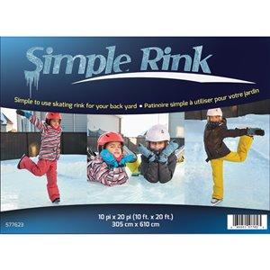 Patinoire SimpleRink, 10 pi x 20 pi, PVC transparent
