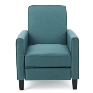 Best Selling Home Décor Darvis Fabric Non-Swivel Recliner Club Chair, Dark Teal