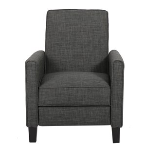 Best Selling Home Décor Darvis Non-Swivel Recliner Club Chair, Grey