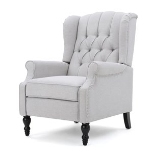 Best Selling Home Décor Walter Fabric Non-Swivel Recliner, Light Grey