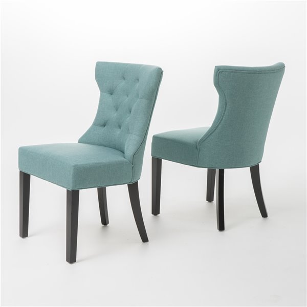 Keane Tufted Wingback Dining Chair Set, Wingback Dining Room Chairs