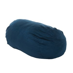 Best Selling Home Décor Orla 6.5 Ft Suede Bean Bag Chair, Midnight Blue