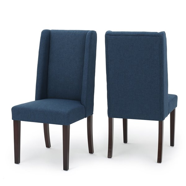 Best Selling Home Décor Rory Navy Blue Fabric Dining Chair (Set of 2)