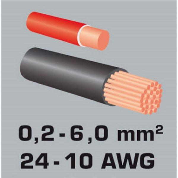 Outil de dénudage de fil automatique Spacio Innovations, 0,2-6,0 mm²