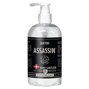 Assassin 500 ml Aloe Vera Hand Sanitizer Hand Sanitizer with Pump Applicator - 12-Pack