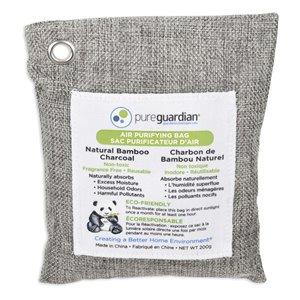 Sachets de charbon de bambou purificateur d'air PureGuardian, 200 g