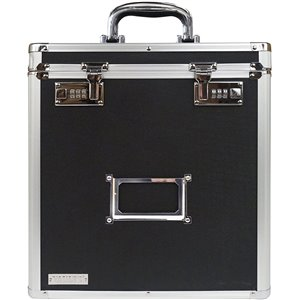 Vaultz Vinyl Record Case 50 Capacity Commercial/Residential Combination lock black Chest Safe